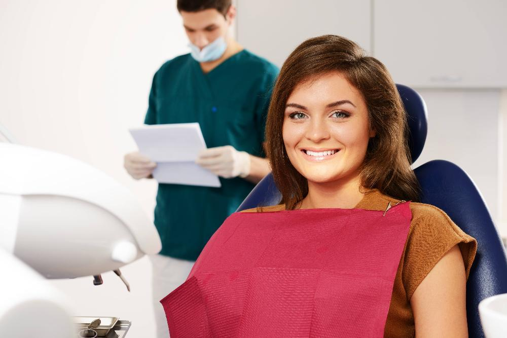 adult woman in dentist chair | Children's Dentistry of Northborough Accepting Adult Patients | Adult Dentistry in Northborough
