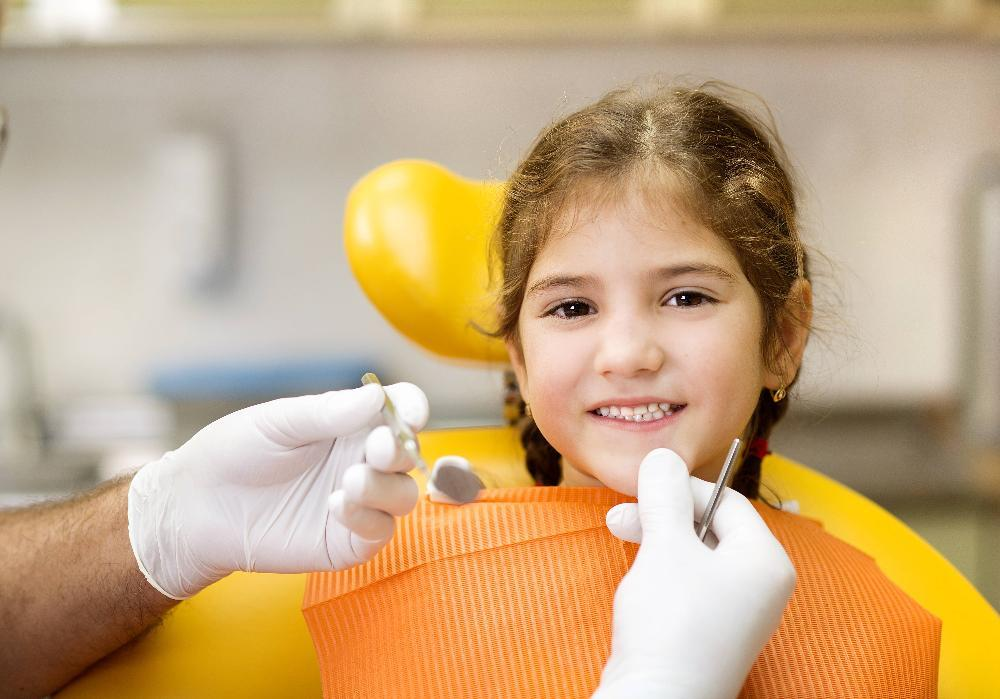 little girl having a orthodontic evaluation | Pediatric Dentistry in Northborough MA